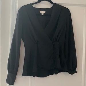 TopShop black long sleeve blouse